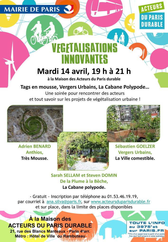 Conférence Végétalisations innovantes - Ville de Paris / De la Plume A la Bêche
