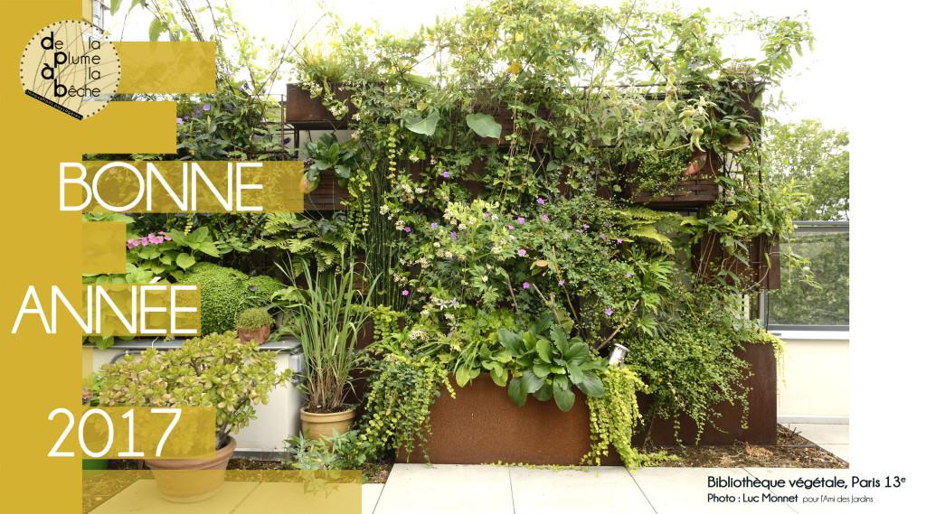 Mur végétal Paris 13e De la Plume A la Bêche